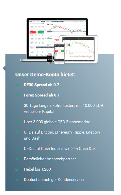 Das XTB Demo-Konto bietet alle Features, die es auch im Live-Handel gibt