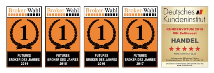 WH Selfinvest Auszeichnungen