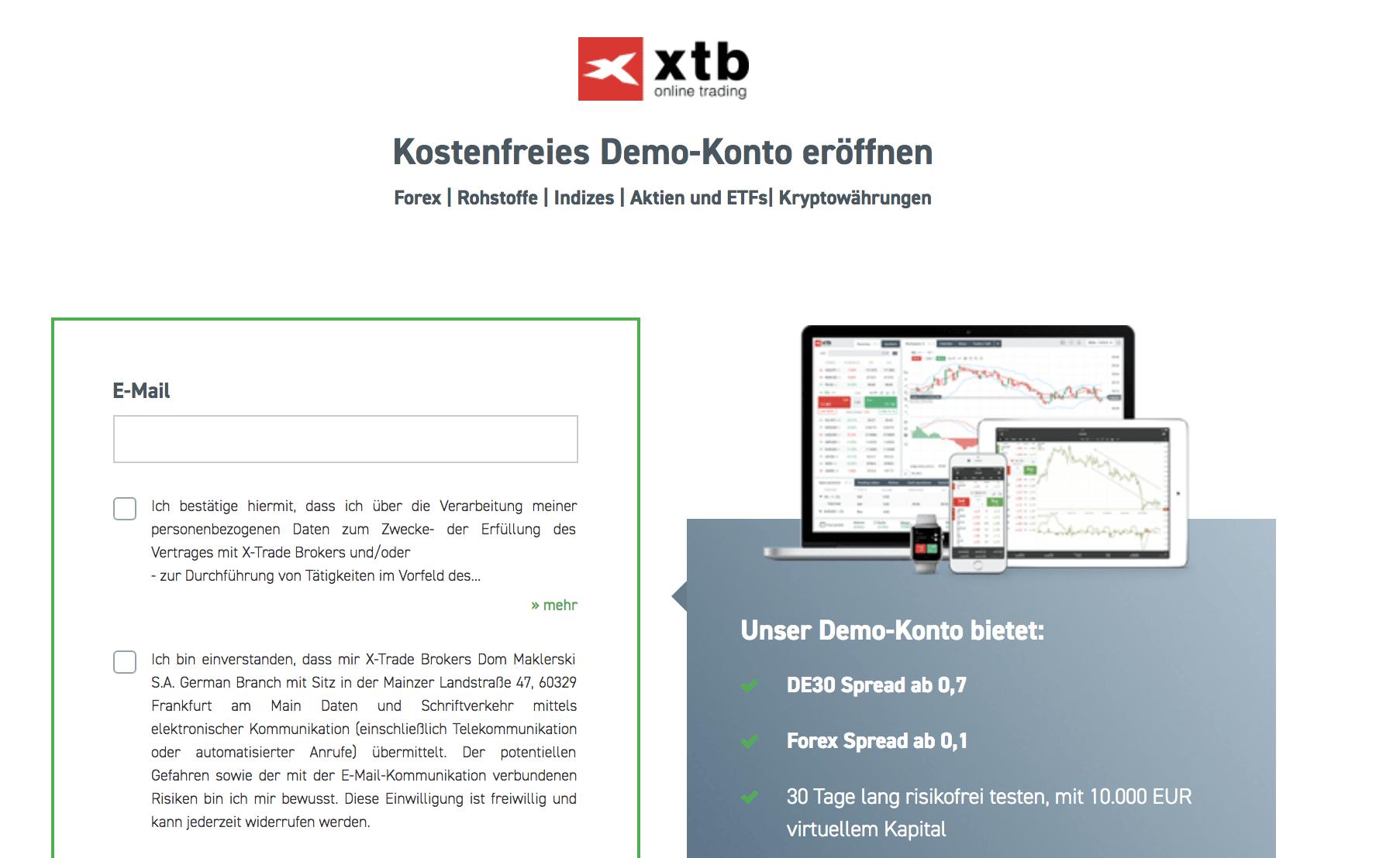XTB Demokonto