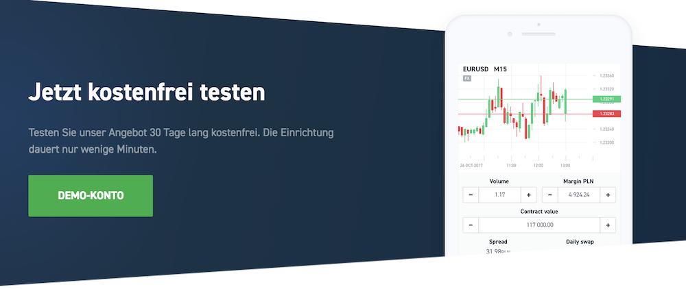 Mit dem XTB Demokonto können Sie erste Erfahrungen mit dem Stop-Loss und Take-Profit machen
