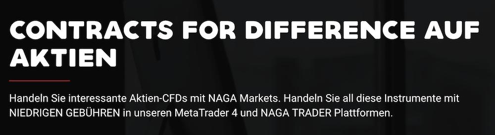 Naga Markets Handelsangebot