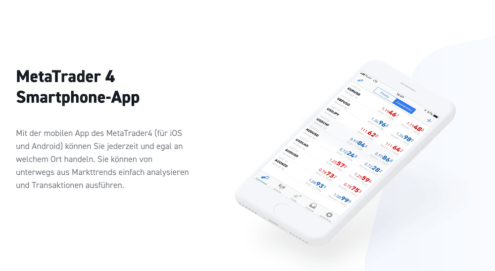 XTB MT4 App
