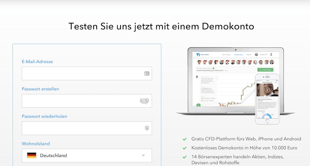 nextmarkets Demokonto