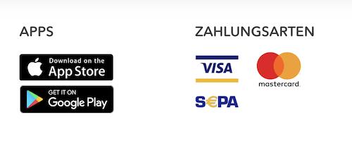 nextmarkets Zahlungsmethoden