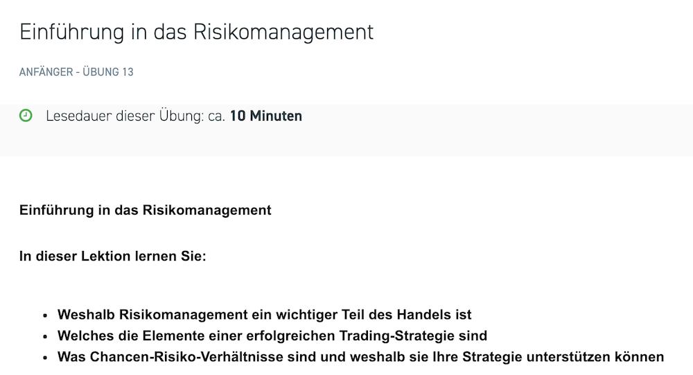 XTB Risikomanagement