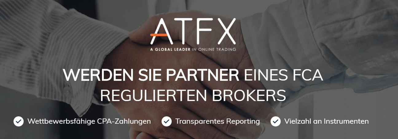 Werden auch Sie Partner von ATFX, eines FCA regulierten Brokers