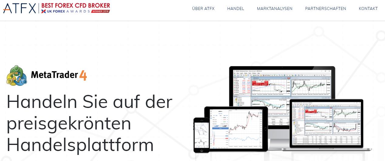 ATFX bietet preisgekrönte Handelsplattformen