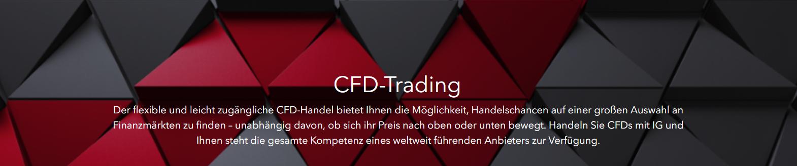 IG bietet Ihnen einen flexiblen & leicht zugänglichen CFD- Handel