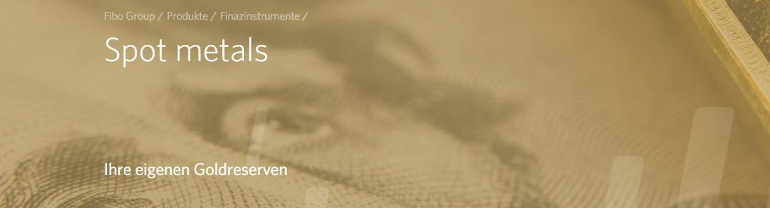 Die FIBO Group bietet Ihnen Ihre eigene Goldreserven an
