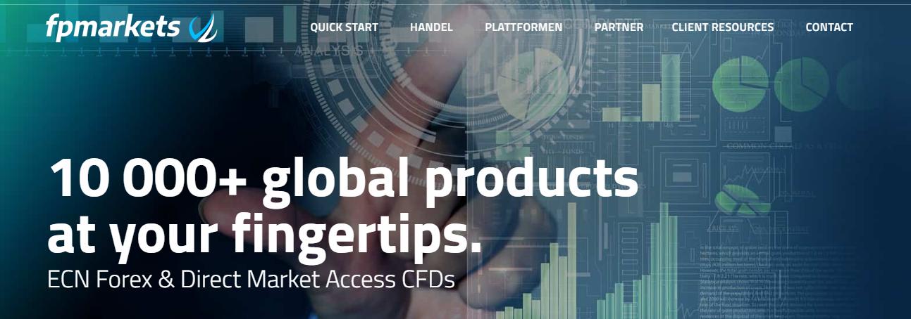 FP Markets bietet mehr als 10.00 Produkte zum handeln an