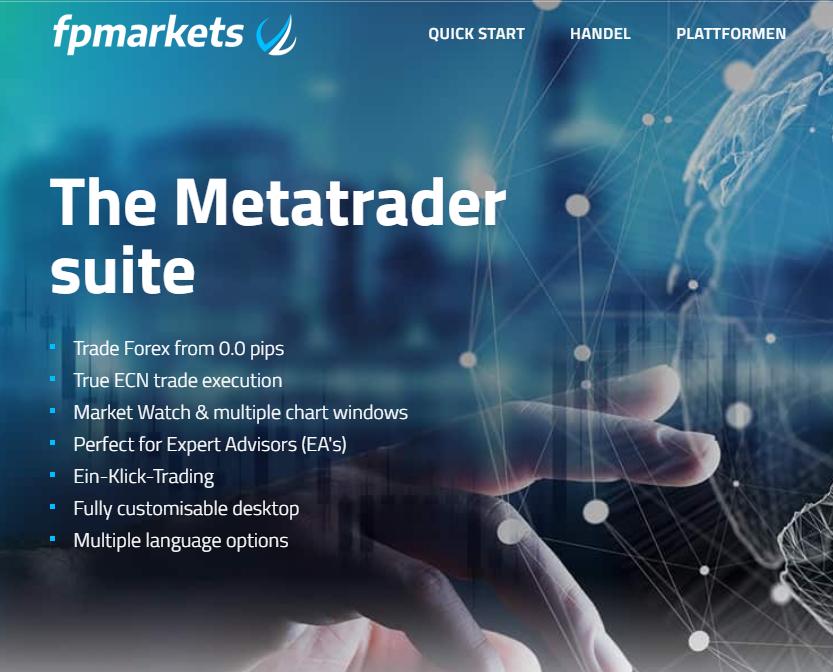 FP Markets bietet die Metatrader Suite an