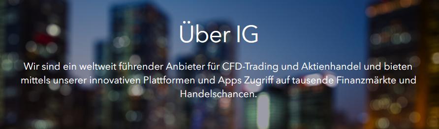 IG ist ein weltweit führender Anbieter für CFD- Trading & Aktienhandel