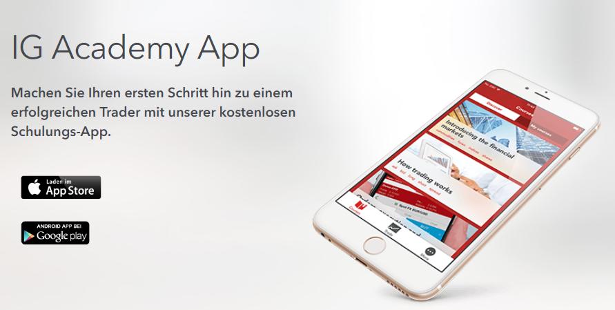 Nutzen Sie die kostenlose Schulungs-App von IG
