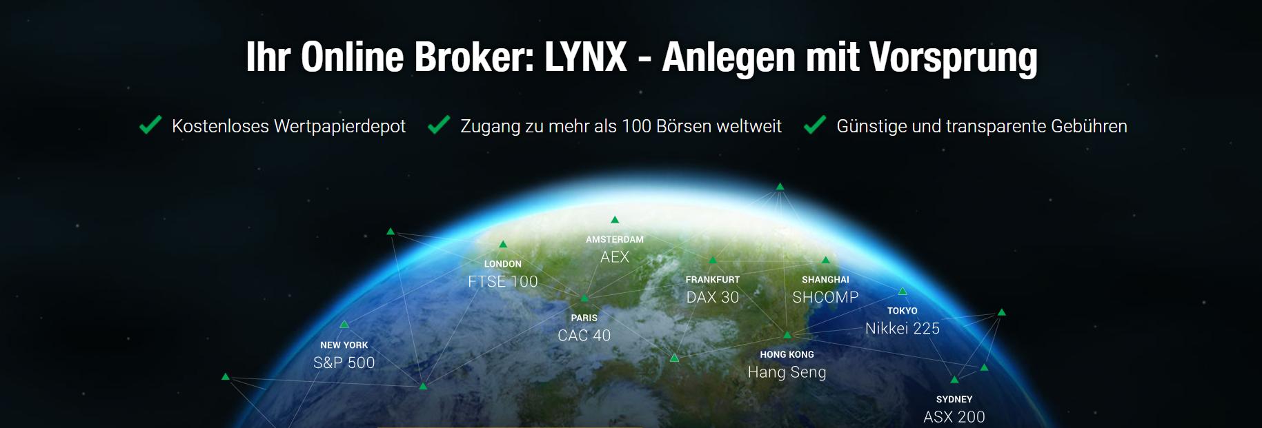 Die Vorteile des LYNX Online Brokers