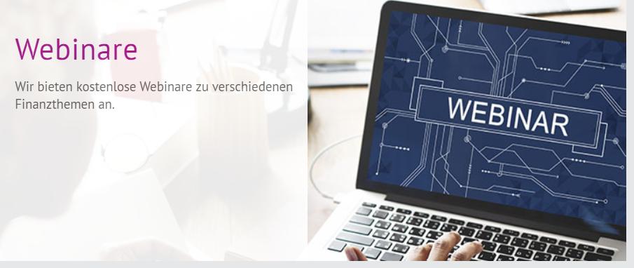 Onvista bietet kostenlose Webinare an