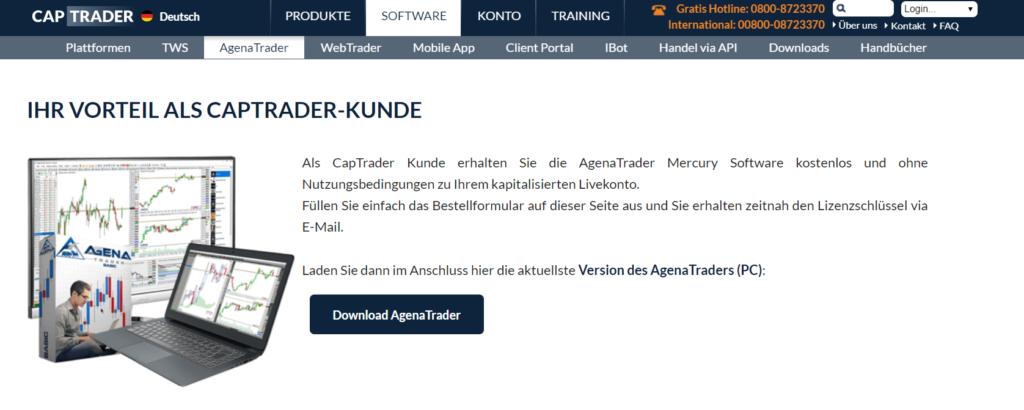 CapTrader Agena Trader kostenfreie Lizenz