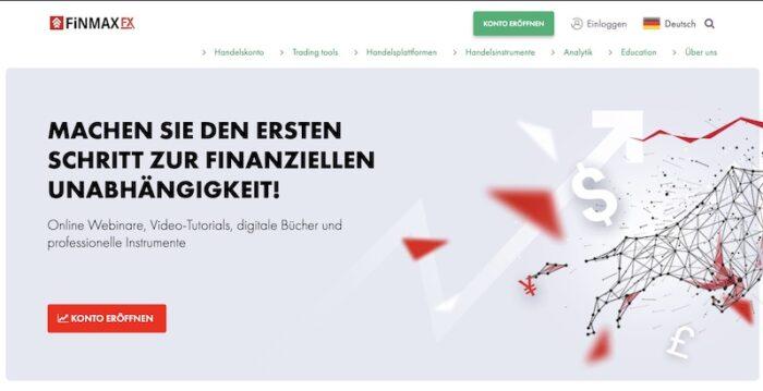 FinmaxFX Homepage